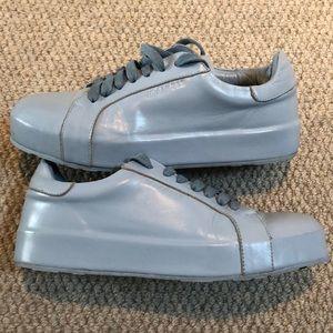 Jil Sander monochromatic leather sneakers